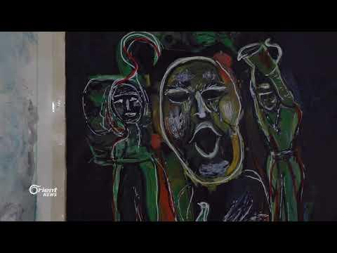 فنان تشكيلي يجسد الواقع بلوحاته الفنية في جسر الشغور  - 23:21-2018 / 8 / 10