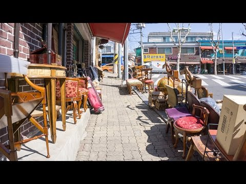 Itaewon Antique Furniture Street in Seoul, South Korea