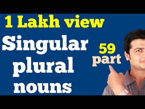 Singular noun plural