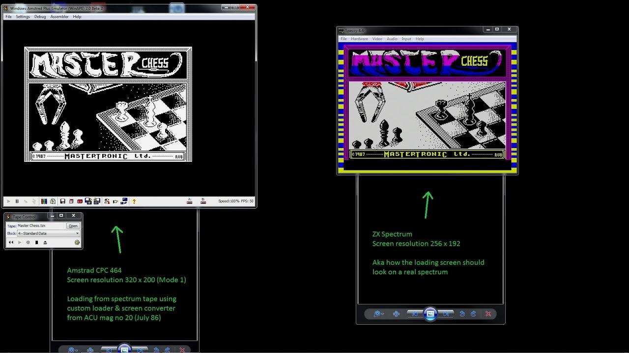 Load ZX Spectrum screens on Amstrad CPC (Amstrad CPC)