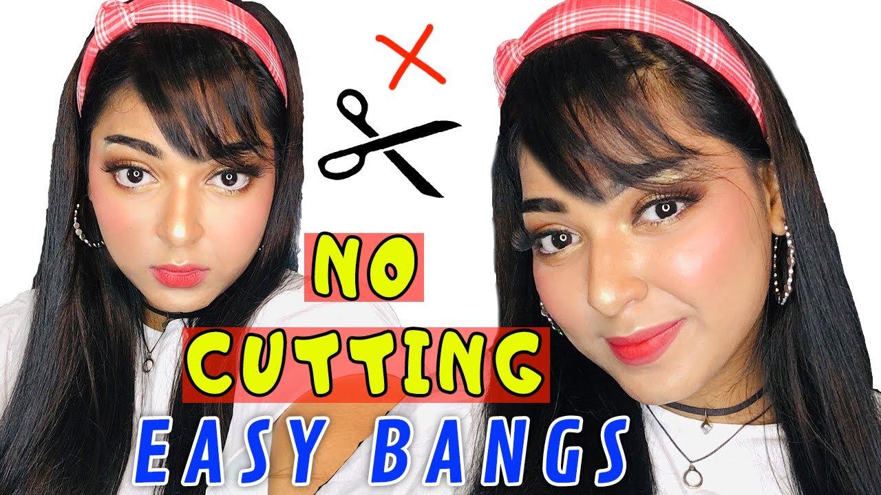 HAIR HACK: Fake Bangs Without Cutting Hair like a PRO | Kareena Malik