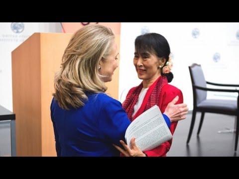 Aung San Suu Kyi Addresses Asia Society in Washington D.C.