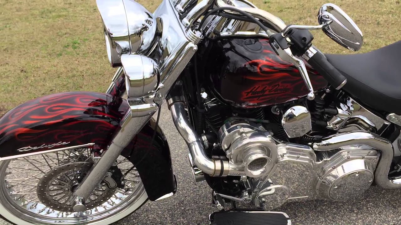 2009 harley davidson flstn softail deluxe pro charger 106hp dyno for sale 706 731 1899
