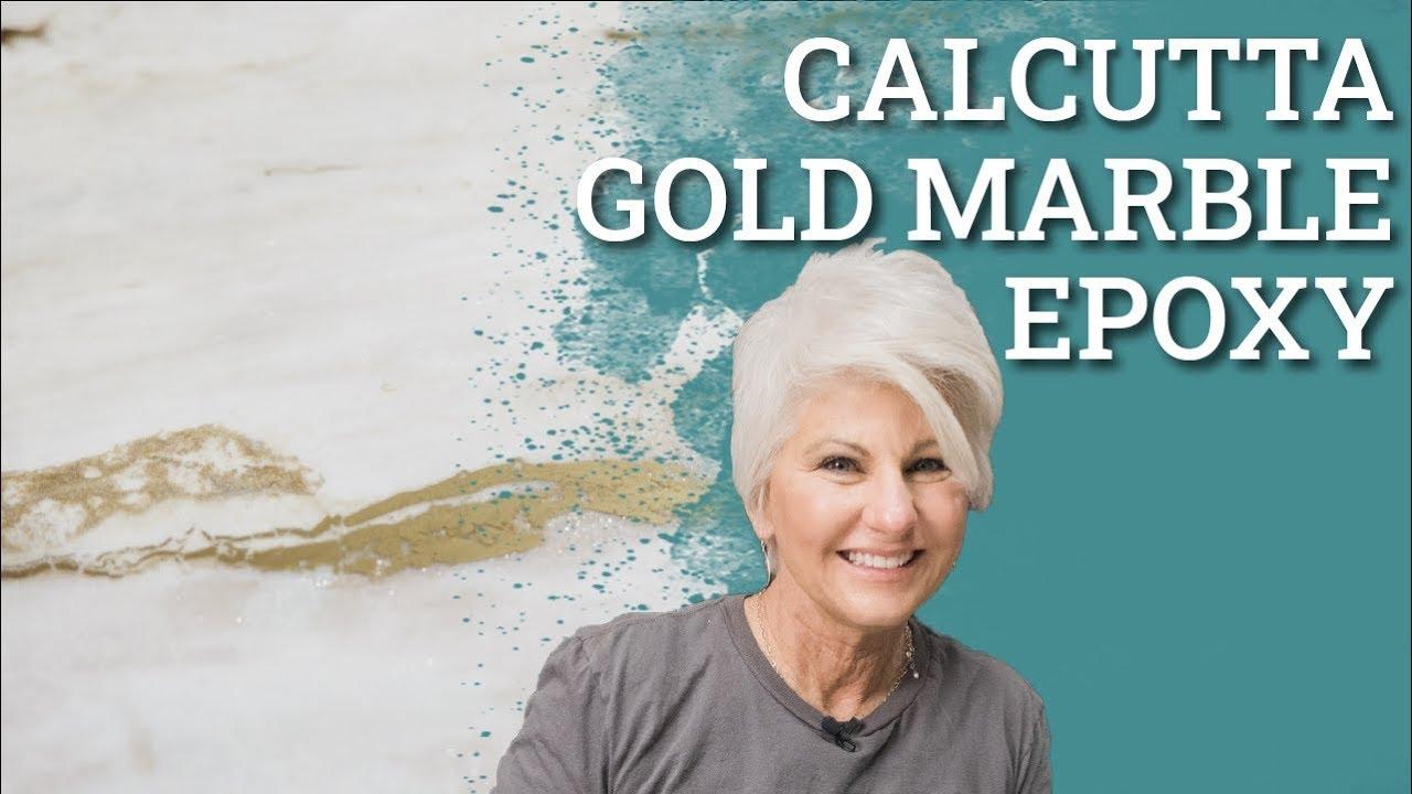Calcutta Gold Marble Epoxy