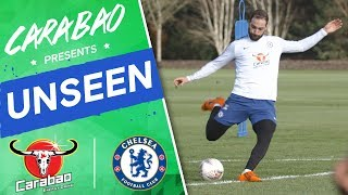 #Higuain & #Hudson-Odoi On 🔥 In Shooting Drill | Chelsea Unseen