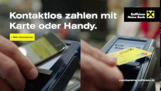 Kontaktlos bezahlen mit Karte und Handy (Raiffeisen, Hermann Maier, PreRoll 2016)