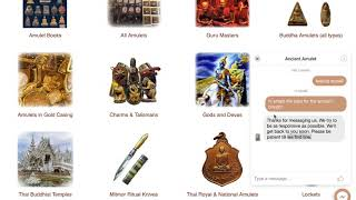 Use Facebook Messenger Chat with Us on Ancient Amulet Website
