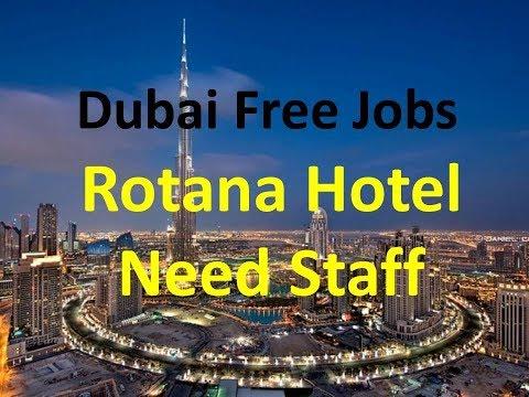 Dubai Rotana Hotel Need Staff Across UAE | Free Visa | Free Jobs In Dubai