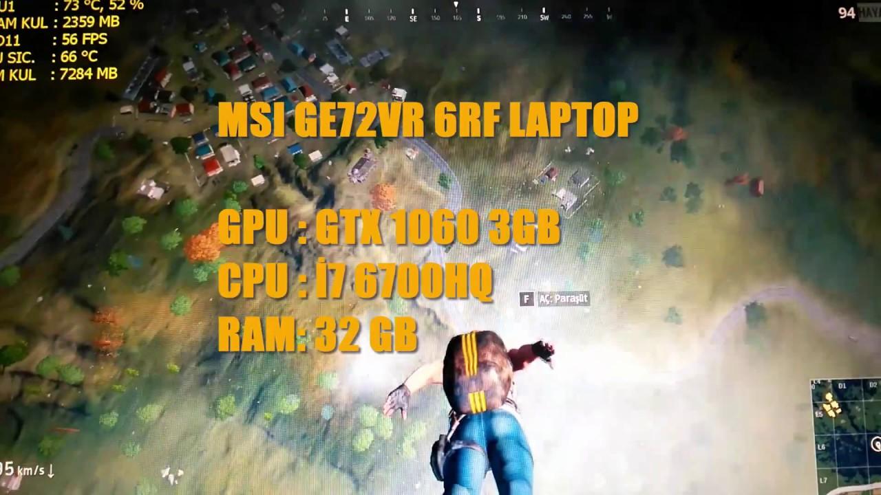 Low fps on Pubg (Gtx1060 msi gaming laptop) - Help & Troubleshooting