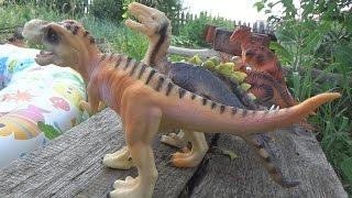 Динозавры игрушки набор 12 штук.Видео для детей.Dinosaurs toys set of 12 pieces.Videos for kids.