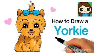 How to Draw a Yorkie Easy | JoJo Siwa's BowBow