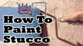 DIY Painting Smooth Stucco With An Airless Sprayer.  HOUSE PAINTING TIPS