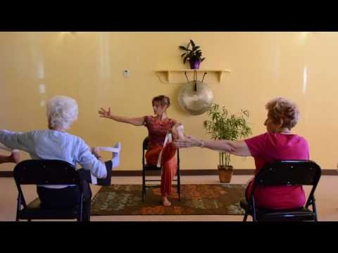 Actively Aging with Energizing Chair Yoga - Seniors get Movi