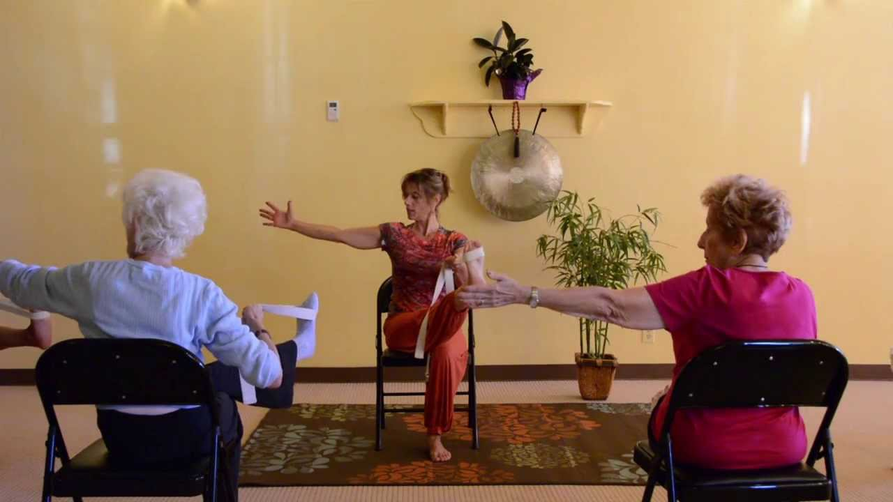 yoga chair exercises for seniors back cushions actively aging with energizing get moving sherry zak morris youtube