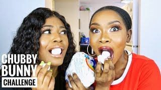 Download Video CHUBBY BUNNY CHALLENGE Ft. Jemima TV (HILARIOUS) | Beauty With Vee ♡ MP3 3GP MP4