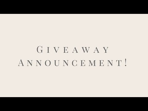 GIVEAWAY WINNER ANNOUNCEMENTS | Coach Bag | Coffee Bundle | White Dish Collection
