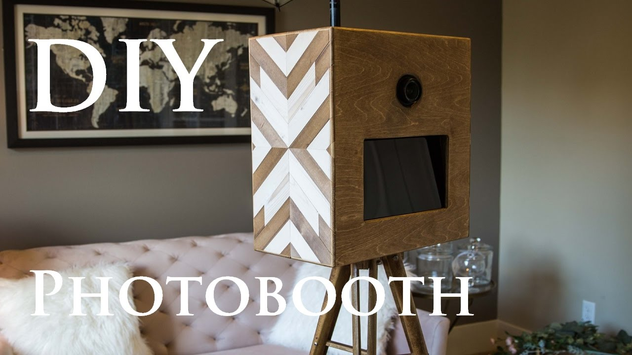 Diy Geometric Wood Photobooth