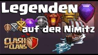 [345] Legenden auf der Nimitz   Pushfights ohne Ende   Clash of Clans Deutsch COC