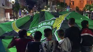 T. M. Akhisarspor taraftarı final heyecanını sokaklara taşıdı