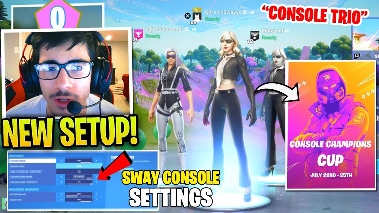 FaZe Sway Shows Best Console Settings & tries to Dominate in Console Champions Cup!