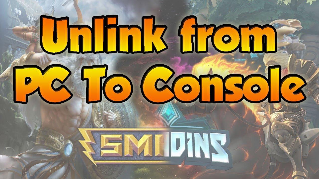 Hi Rez - How To UnLink PC to Console Hi Rez (Paladins & Smite)