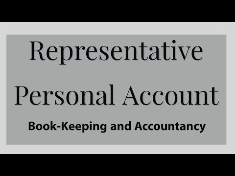 Respresentative Personal Accounts - Class 11/FYJC, Commerce, Book-Keeping and Accountancy