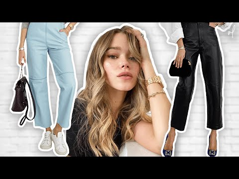 how-to-style-leather-pants-|-closet-essentials-lookbook