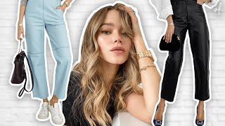 How To Style LEATHER PANTS | Closet Essentials Lookbook
