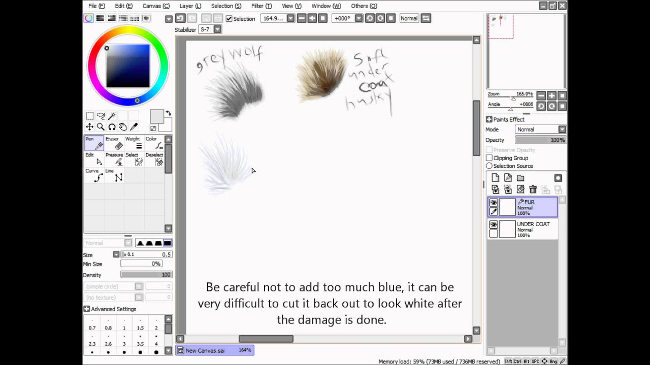 Paint Tool SAI - Fur Tutorial - YouTube