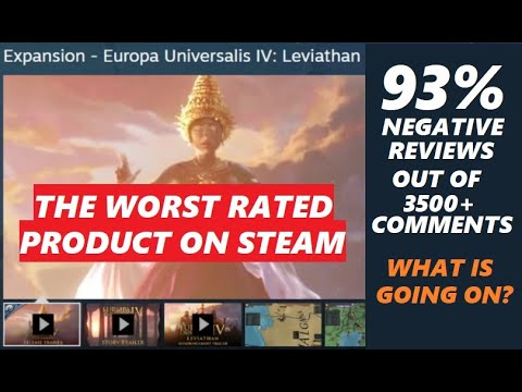 Latest EUIV DLC is STEAM'S WORST RATED PRODUCT EVER |