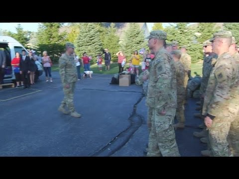 Wisconsin National Guard Troops Welcomed Home In Hartford