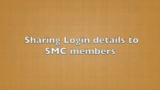 Sharing Login credentials to members in an SMC App