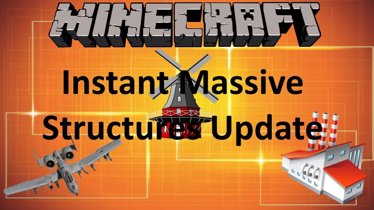 Minecraft Instant Massive Structures Update 1 9 Mod Showcase