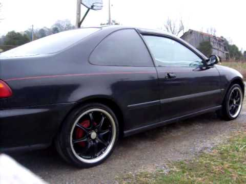 2010 Honda Civic Si >> My 95 Civic Black on Black - YouTube