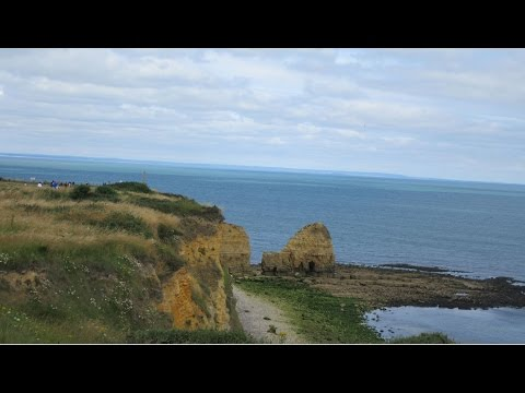05.  Pointe-du-Hoc, Omaha beach and Arromanches visit to Normandy 28th July 2016