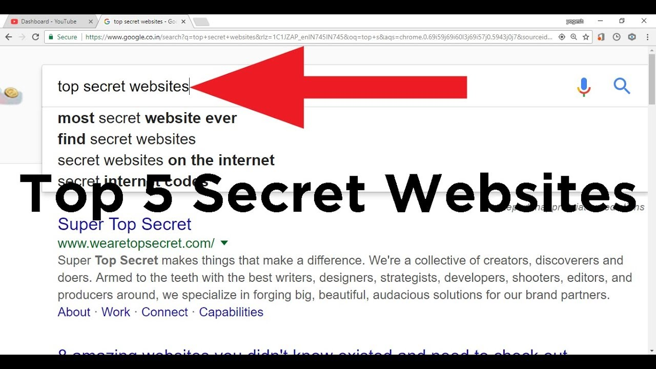 Find secret websites