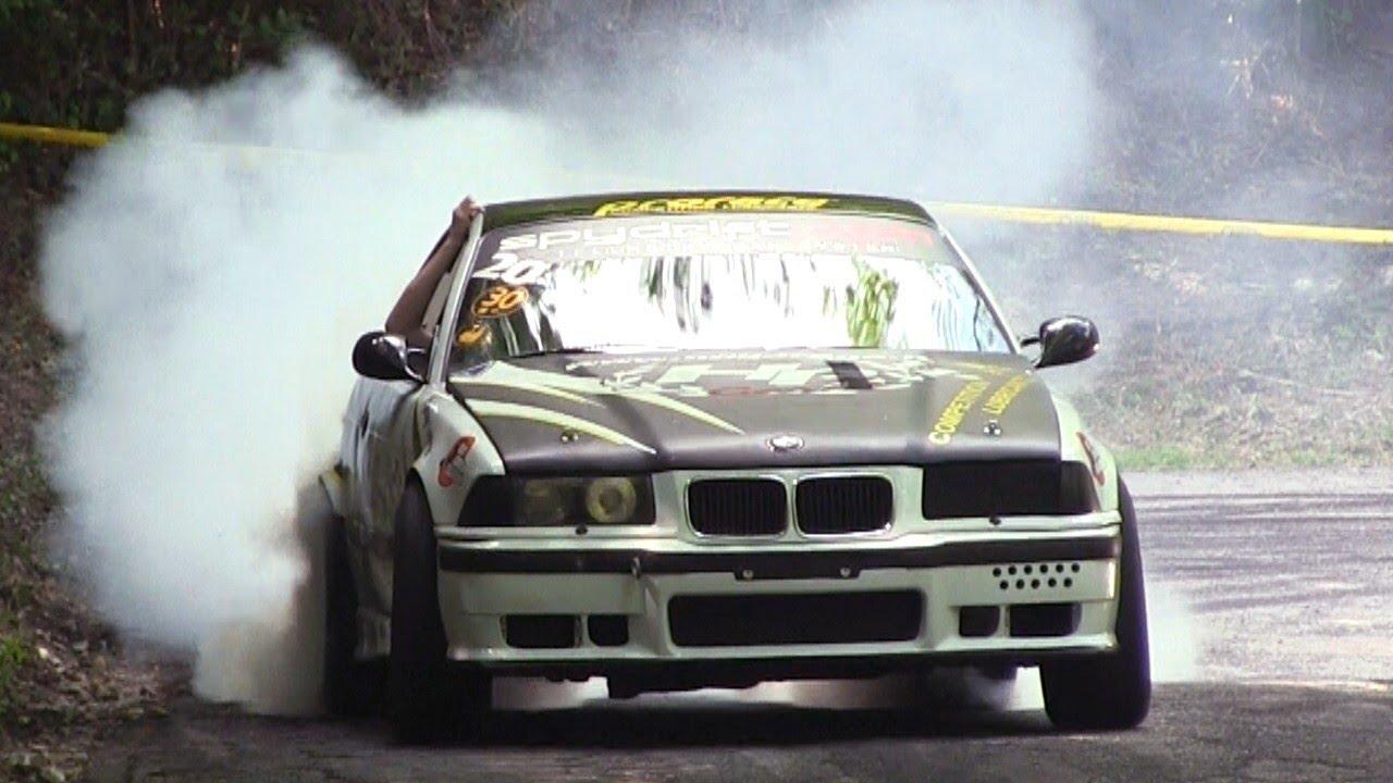 2 x bmw m3 e36 hillclimb track drift [ 1280 x 720 Pixel ]
