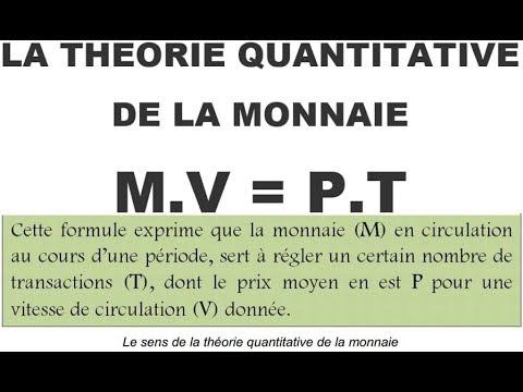 La Théorie Quantitative de la Monnaie : L ' équation d'Irving Fisher