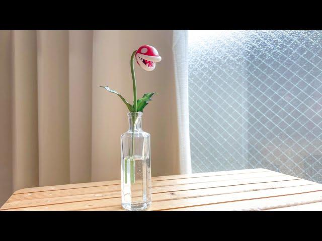 【粘土】パックンフラワーの一輪挿し 作ってみた【マリオ】Piranha Plant Flower Vase(Mario) Polymer Clay