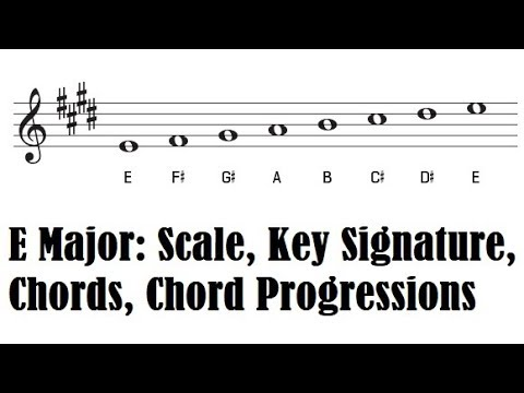The Key Of E Major E Major Scale Key Signature Piano Chords And