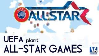 UEFA ALL STAR GAMES - RonaldoMessi vs. HazardRobben - Fussball & Transfer Talk |