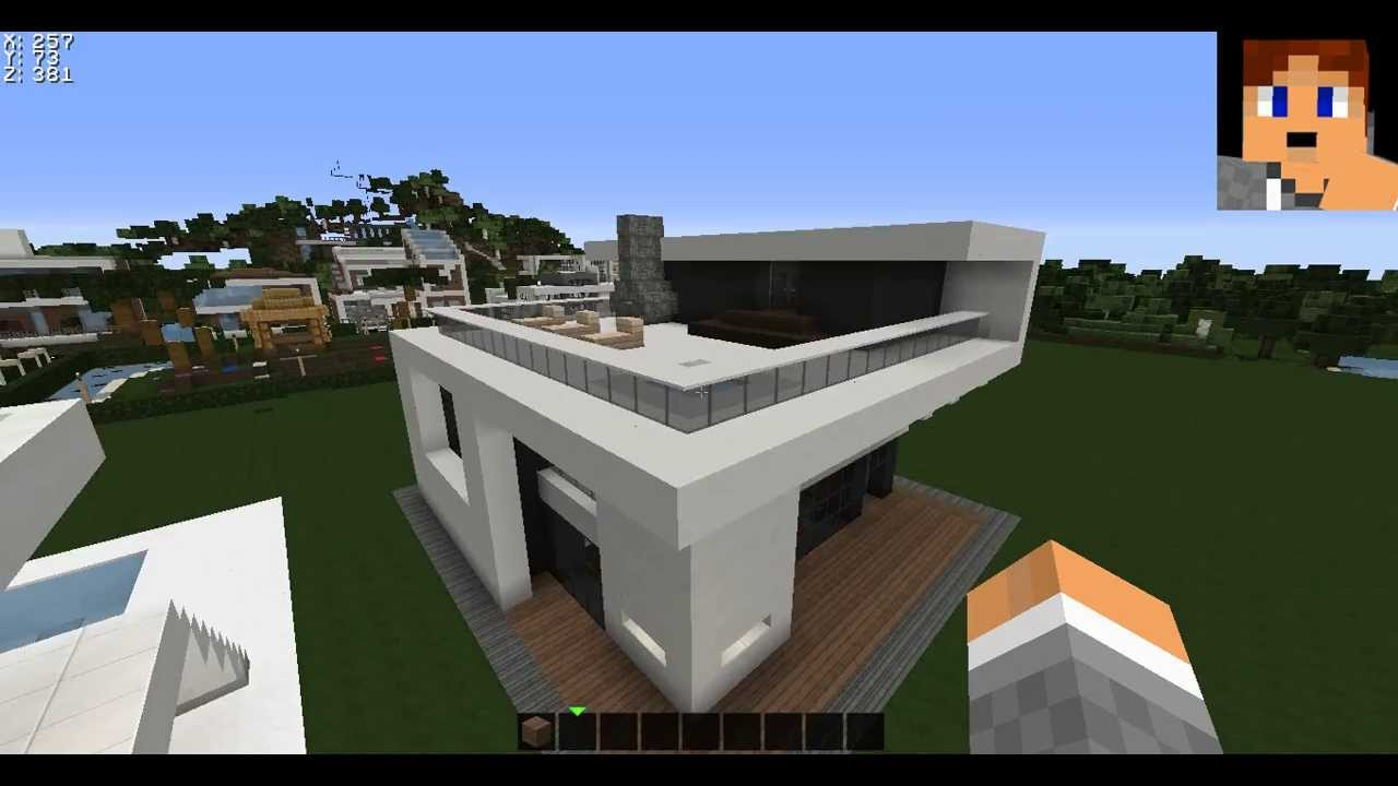 Minecraft modernes haus server earthmc eu builder gesucht