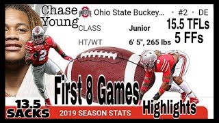 Ohio State DE Chase Young 2019 Midseason Highlights