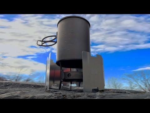 Ultra-Lightweight Stove Setup: Vargo Triad XE, Windscreen, & Toaks 850ml Pot