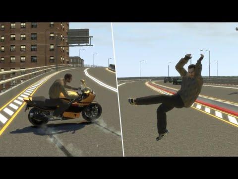 GTA IV - Brutal Motorcycle Crashes Compilation Vol. 1 (Euphoria Physics)