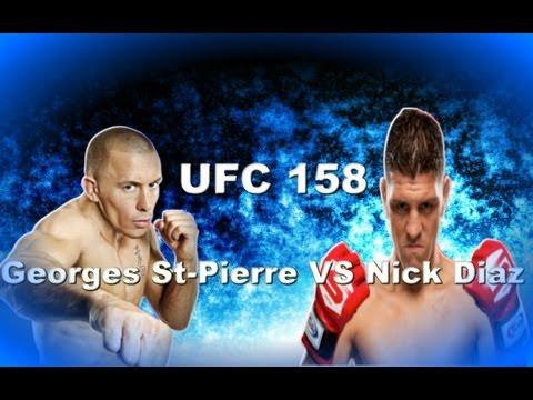 UFC 158 Georges St-Pierre VS Nick Diaz - Fight Prediction