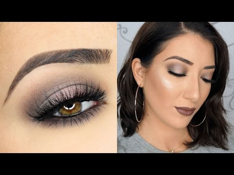 One Brand Makeup Tutorial | Gray Halo Smokey Eyes & Gray Lips