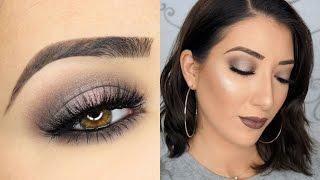 One Brand Makeup Tutorial   Gray Halo Smokey Eyes & Gray Lips