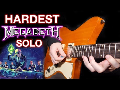Learning the Hardest Megadeth Solo