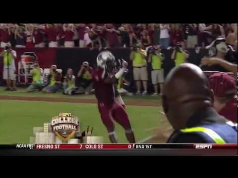 2012 USC vs Georgia - Ace Sanders 70 Yd Punt Return Touchdown